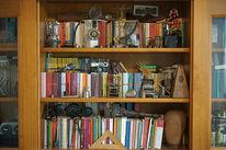 Bücher, Kopf, Schrank, Fotografie