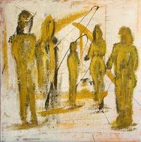 Modern, Abstrakt, Malerei, Acrylmalerei