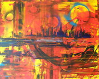 Abstrakt, Malerei, Acrylmalerei, Modern