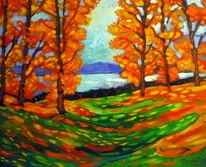 Herbst, Rhein, Malerei,