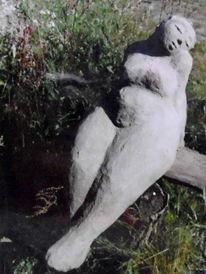 Frau, Weiblich, Traeumerin, Skulptur