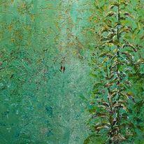 Wald, Pflanzen, Grün, Malerei