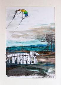 Acrylmalerei, Küste, Ramona zirk, Braun