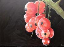 Johannisbeeren, Acrylmalerei, Pflanzen, Moderne malerei
