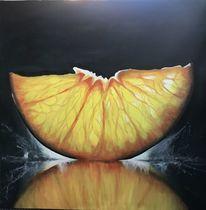 Stillleben, Saftig, Früchte, Orange