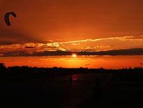 Sonnenuntergang thempelhof flughafen, Fotografie, Stadt