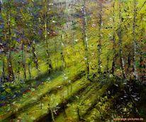 Licht, Wald, Malerei