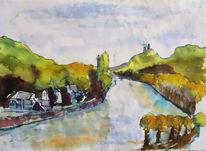 Unkel, Drachenfels, Landschaft, Rhein oberwinter