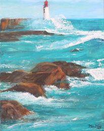 Wasser, Meer, Felsen, Leuchtturm