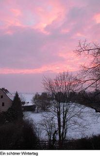 Schnee, Sonne, Baum, Haus