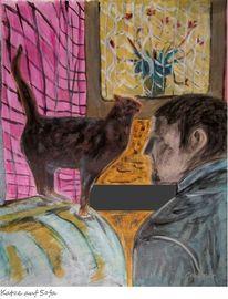 Katze, Malerei, Zeichnen, Köln