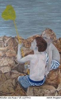Braun, Ölmalerei, Kinder, Köln