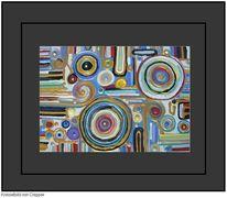 Bunt, Mischtechnik, Acrylmalerei, Kreiselbild von cnipper