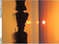 Sonne, Sonnenuntergang, Strand, Wolkenschön