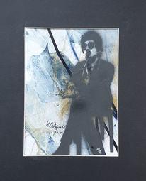 Mann, Rauchen, Zigarette, Abstrakte malerei