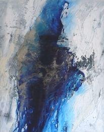 Fluss, Silber, Blau, Schwarz