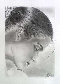 Gia carangi, Portraitzeichnung, Bleistiftzeichnung, Zeichnung