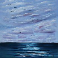 Seelandschaft, Erholung, Zugvögel, Welle