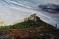 Lilienstein, Sächsische schweiz, Malerei, Gemälde