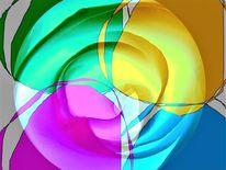 Rahmen, Farben, Blumen, Digital