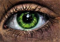 Auge, Digital, Design, Digitale kunst