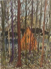 Wald, Frühling, Schattig, Zeichnungen