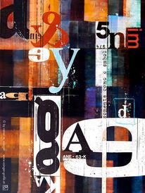 Typo, Popart, Malerei, Buchstaben