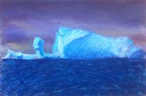 Kälte, Eis, Landschaft, Pastellmalerei