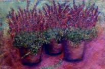 Keramik, Heide, Blumen, Heidekraut