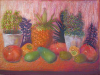 Gegenständlich, Kiwi, Granatäpfel, Obstsalat