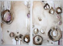 Abstrakt, Beige, Acrylmalerei, Margarita schoen