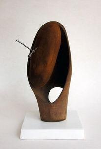Objekt, Holz, 2017, Plastik
