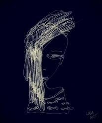 Dame, Schwarz, Frau, Zeichnungen