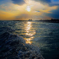 Himmel, Wasser, Wolken, Licht