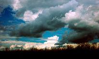 Acker, Mais, Wolken, Feld