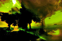 Traumfetzen, Himmel, Korn, Baum