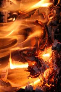 Glut, Flamen, Hitze, Holz