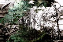 Blätter, Glas, Mais, Stängel