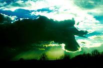 Sonne, Wolken, Düster, Licht