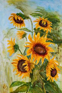 Blüte, Gelb, Herbst, Grün