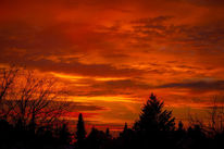 Himmel, Rot, Mölkau, Sonnenuntergang