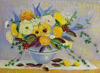 Herbst, Krug, Sonnenblumen, Blumen