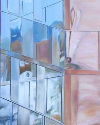 Räumlichkeit, Architektur, Spiegelung, Malerei