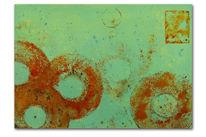 Malplatte, Acrylmalerei, Rost, Malerei