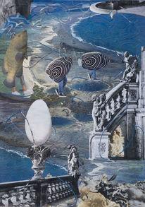 Fische, Schwarzweissdruck, Ei, Traumwelt