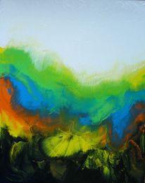 Abstrakt, Acrylmalerei, Malerei, Regenbogen