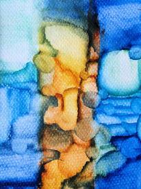 Fläche, Farben, Linie, Aquarell