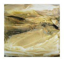 Landschaft, Pigmente, Steinpapier, Bienenwachs