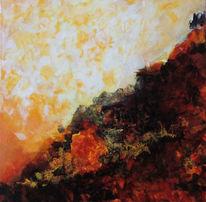 Spuren, Warme farbtöne, Acrylmalerei, Malerei