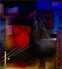 Digitale kunst, Nacht, Gespräch